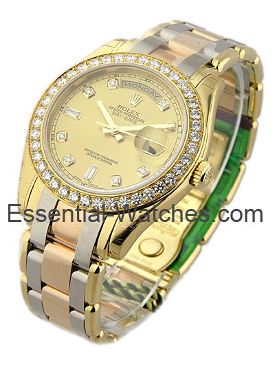 Rolex Unworn Men's Tridor Masterpiece with Diamond Bezel