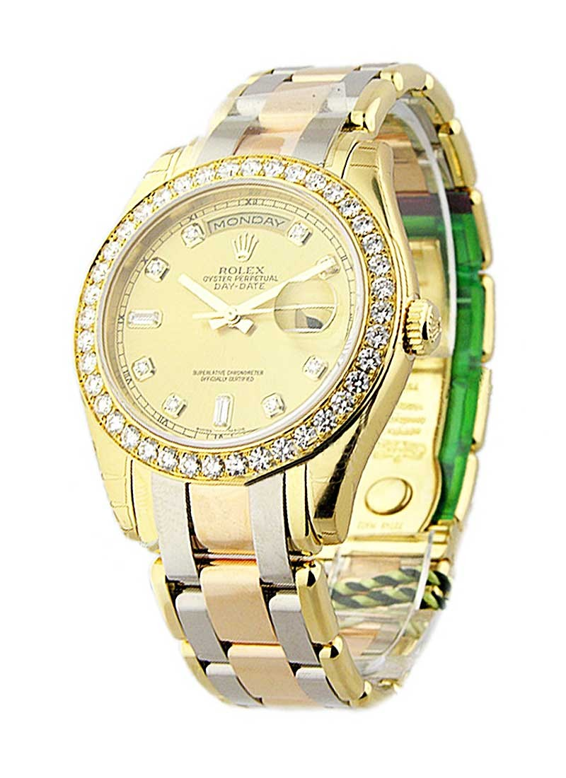 Rolex Unworn Masterpiece Men's Tridor in Yellow Gold with Diamond Bezel