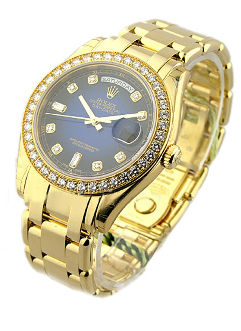 Rolex Unworn Masterpiece Men's in Yellow Gold with Diamond Bezel