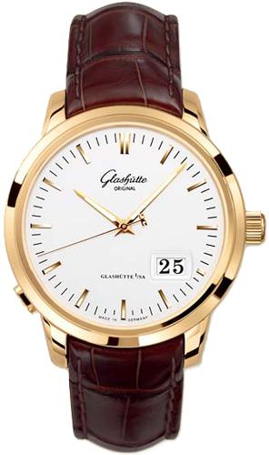 Glashutte Senator Panorama Date 40.1mm Autoamtic in Rose Gold