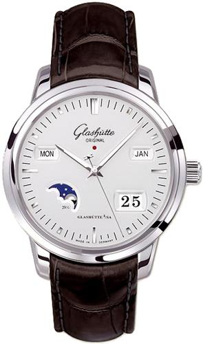 Glashutte Senator Perpetual Calendar 42mm Automatic in Steel