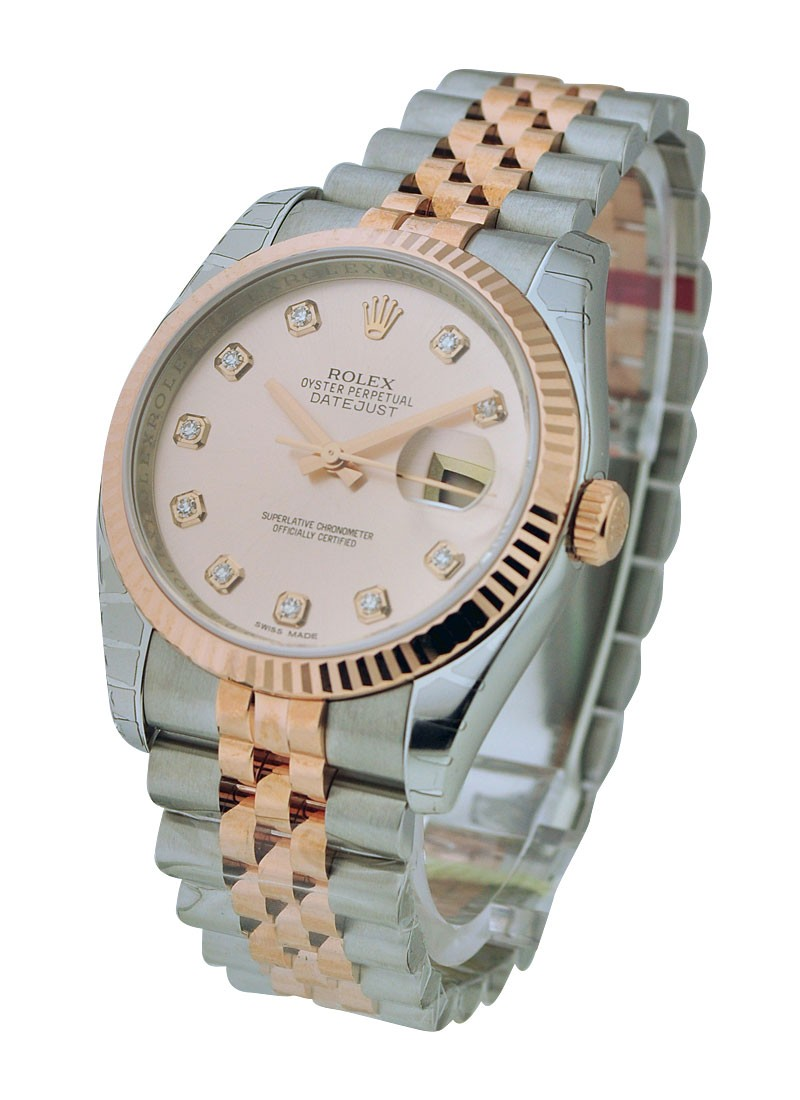 Rolex Unworn Men's 2 Tone Rose Gold Datejust