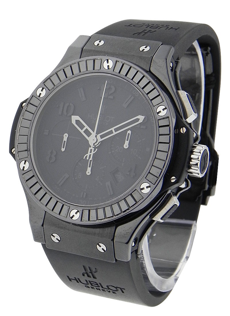 Hublot Big Bang Black Carat 44mm in Black PVD with Black Baguette Diamond Bezel
