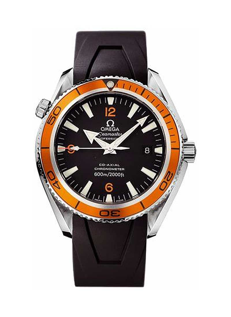 Omega Planet Ocean 42mm in Steel with Orange Aluminium Rotating Bezel