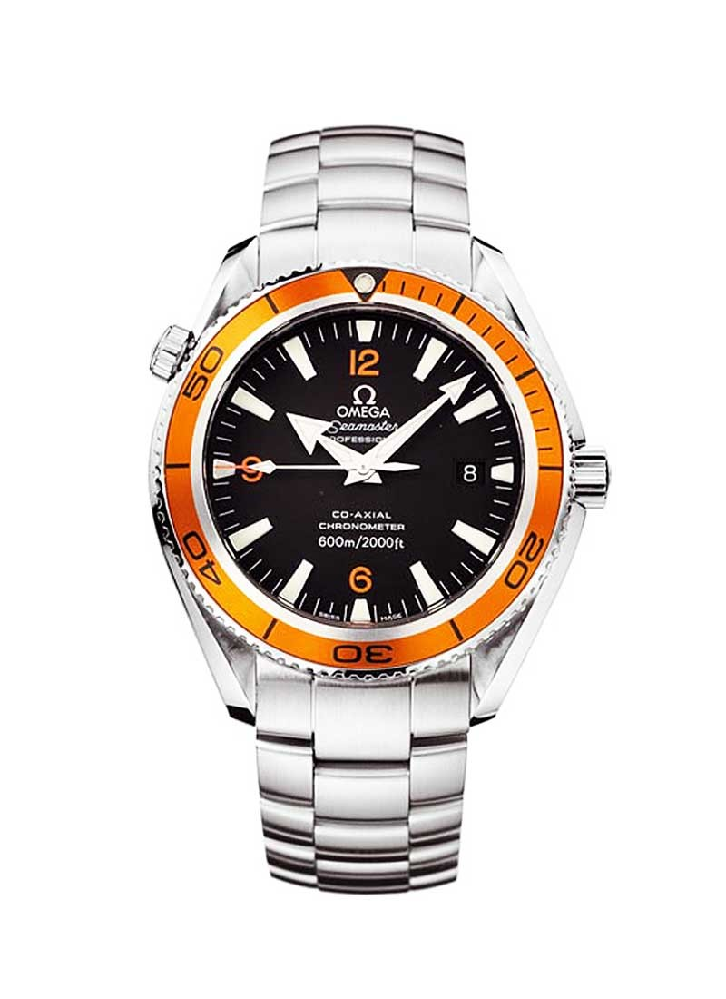 Omega Planet Ocean 42mm Automatic in Steel with Orange Aluminum Bezel