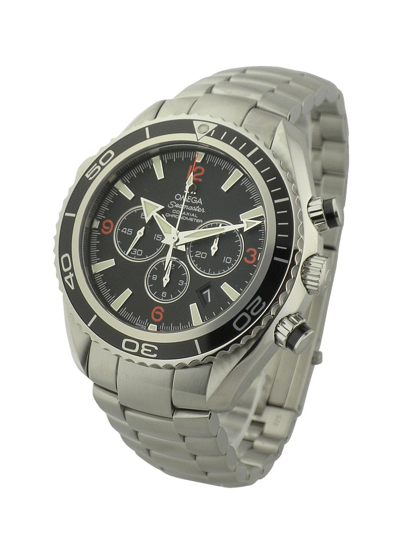 Omega Planet Ocean Chronograph 45mm in Steel  - Black Bezel