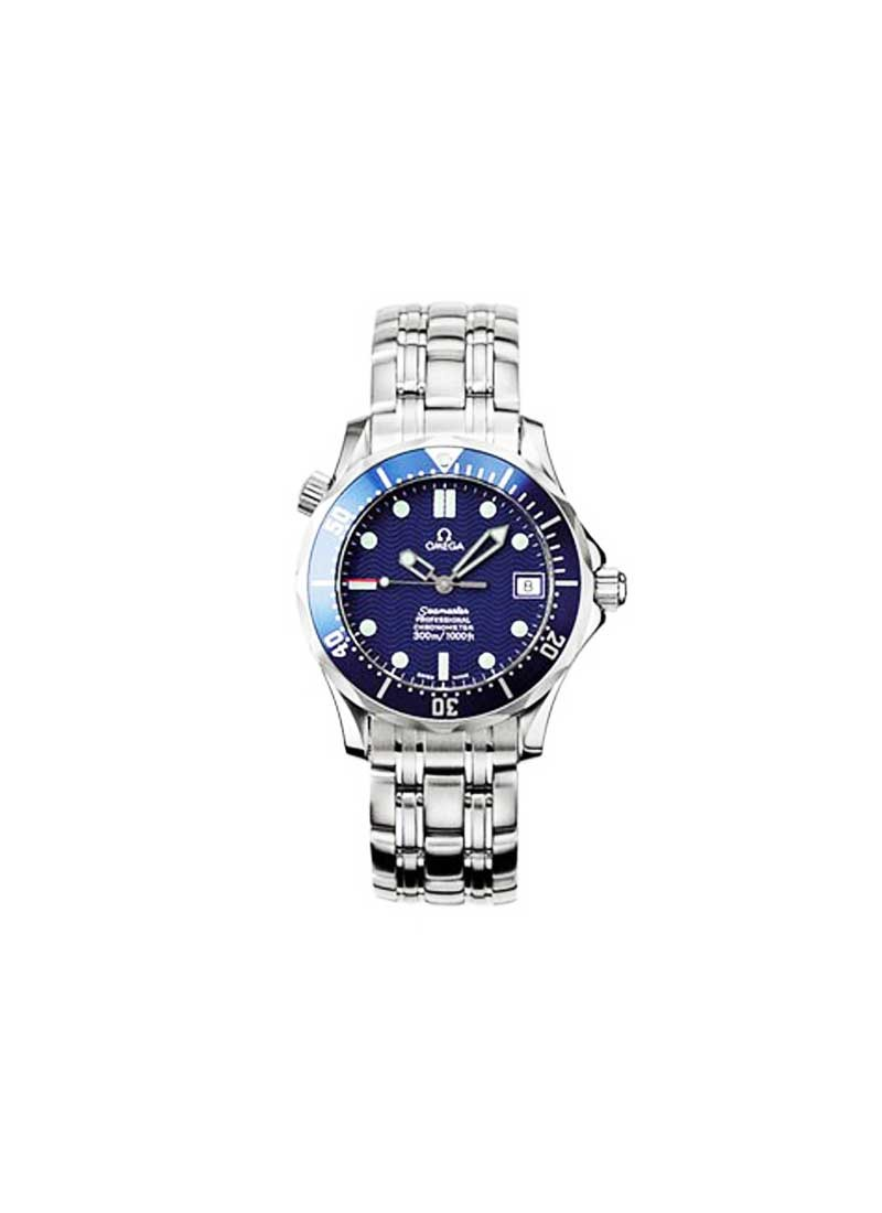 Omega Seamaster Pro 300m Midsize  Automatic in Steel with Blue Bezel