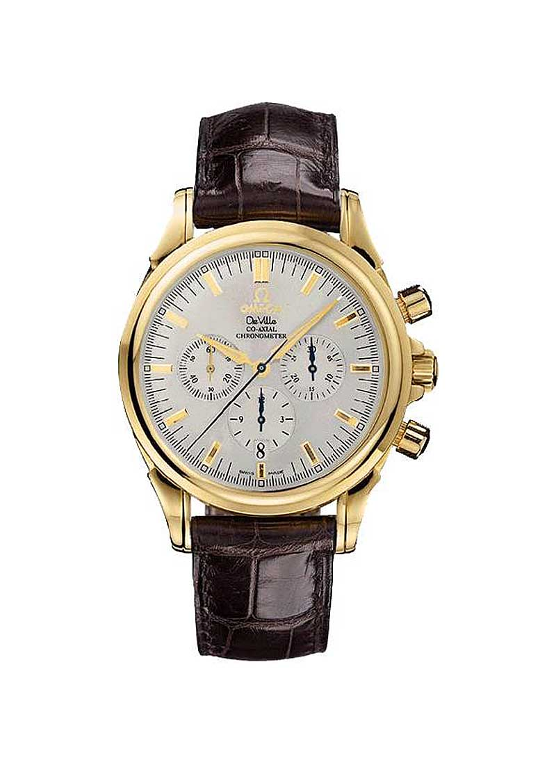 Omega Co Axial Chronograph 41mm Automatic in Yellow Gold