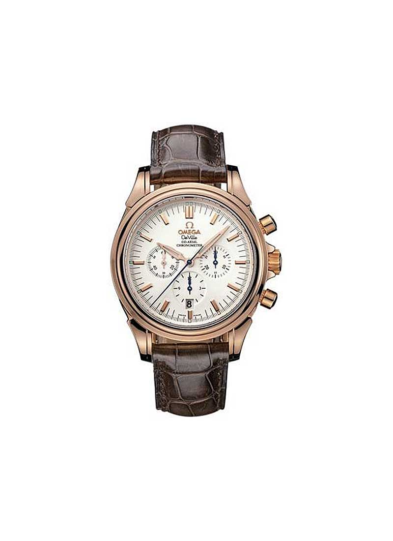 Omega Co-Axial Chronograph 41mm Automatic in Rose Gold
