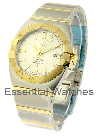 Omega Double Eagle Chronometer in Steel with Yellow Gold Bezel