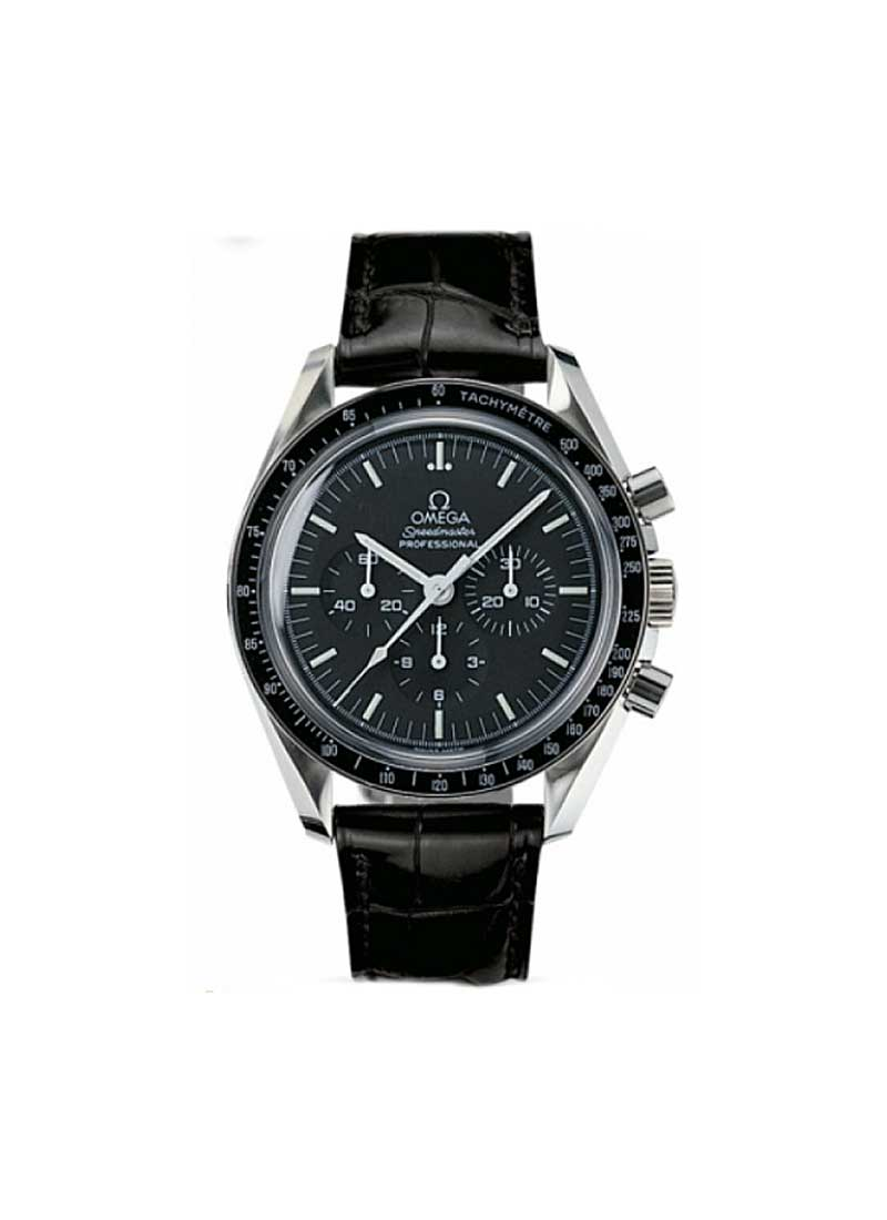 Omega Speedmaster Professional 42mm Steel with Black Tachymetre Bezel