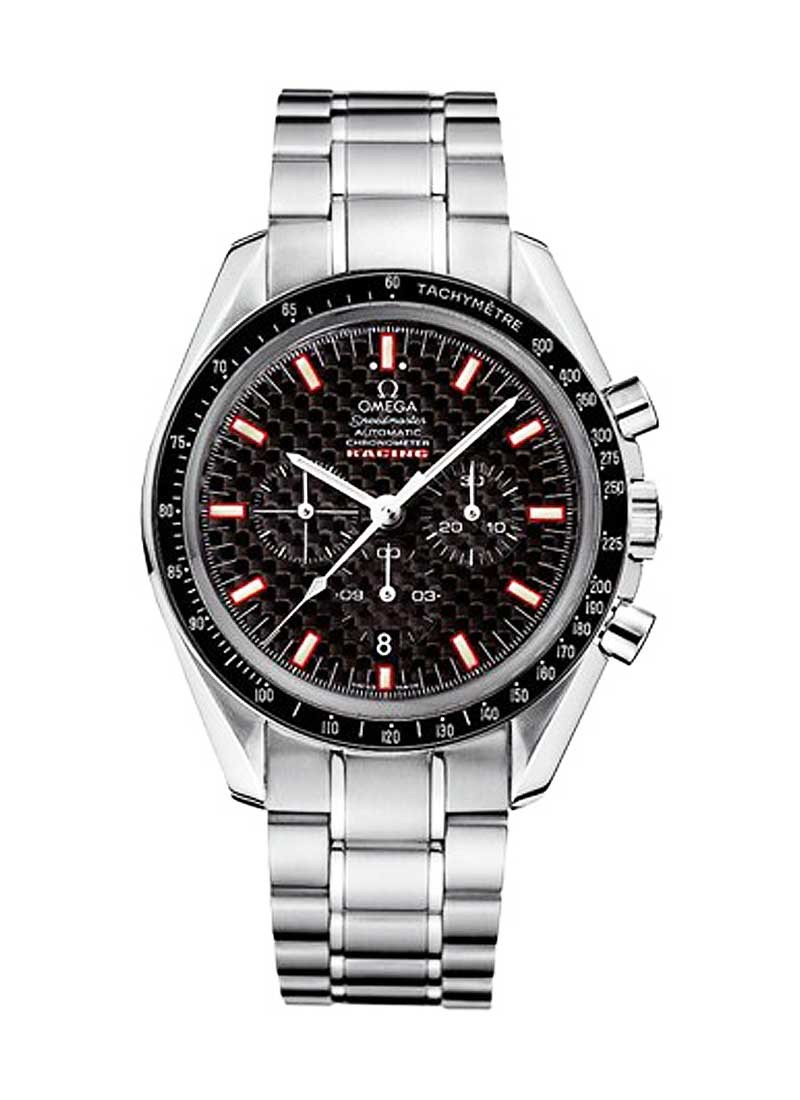 Omega Speedmaster Racing Chronograph 42mm Automatic in Steel with Black Tachmetre Bezel