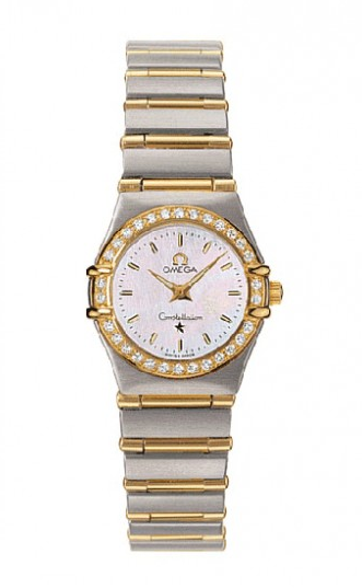 Omega Constellation 95 in Steel and Yellow Gold with Diamond Bezel