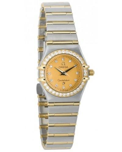 Omega Constellation 95 in Steel with Yellow Gold Diamond Bezel