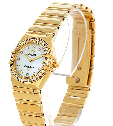 Omega Constellation My Choice in Yellow Gold with Diamond Bezel