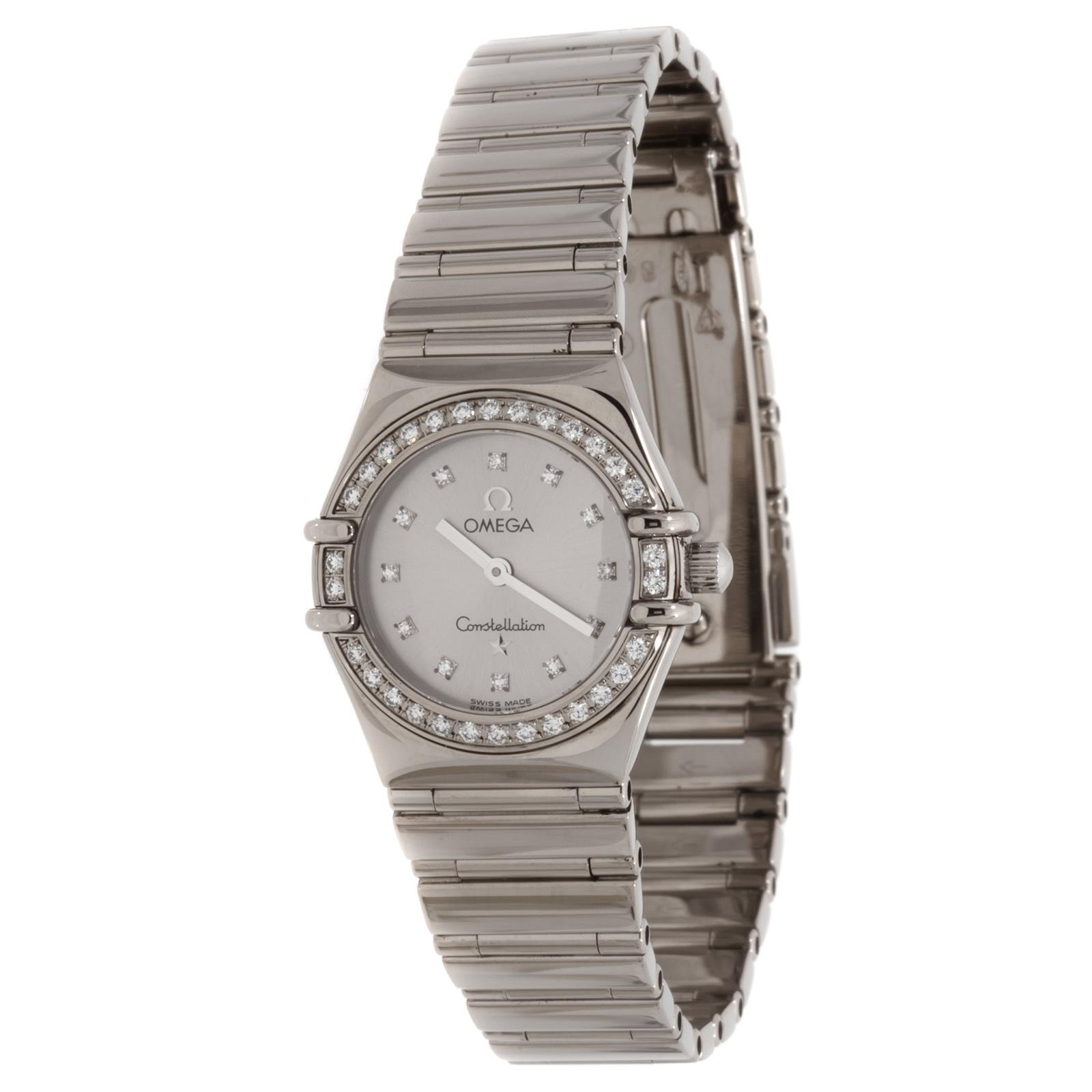 Omega Constellation My Choice in White Gold with Diamond Bezel