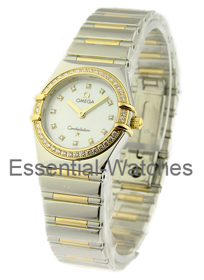 Omega Constellation My Choice in Steel with Yellow Gold Diamond Bezel