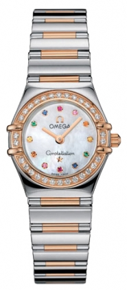Omega Constellation Iris My Choice in Steel with Rose Gold Diamond Bezel