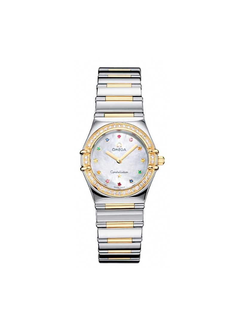Omega Constellation Iris My Choice in Steel with Yellow Gold Diamond Bezel