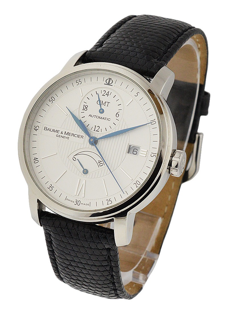 01f6db40e41 Baume   Mercier Classima Executives Power Reserve GMT in Steel. 8693