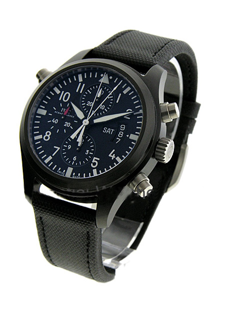 IWC Pilots Dopplechrongraph - Ceramic PVD Version