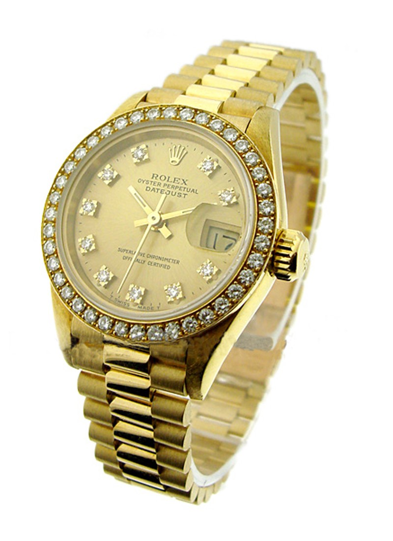 Rolex Used Ladies President in Yellow Gold