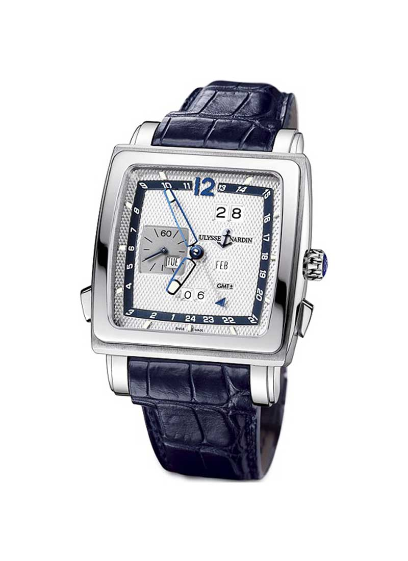 Ulysse Nardin Quadrato Dual Time Perpetual in White Gold