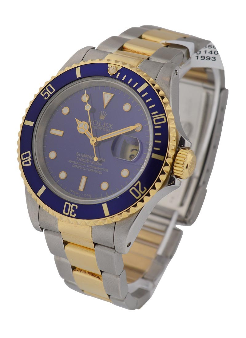 Rolex Used Submariner 2-Tone with Blue Bezel