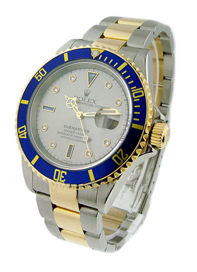 Rolex Used Submariner 2-Tone in Steel with Yellow Gold Blue Bezel