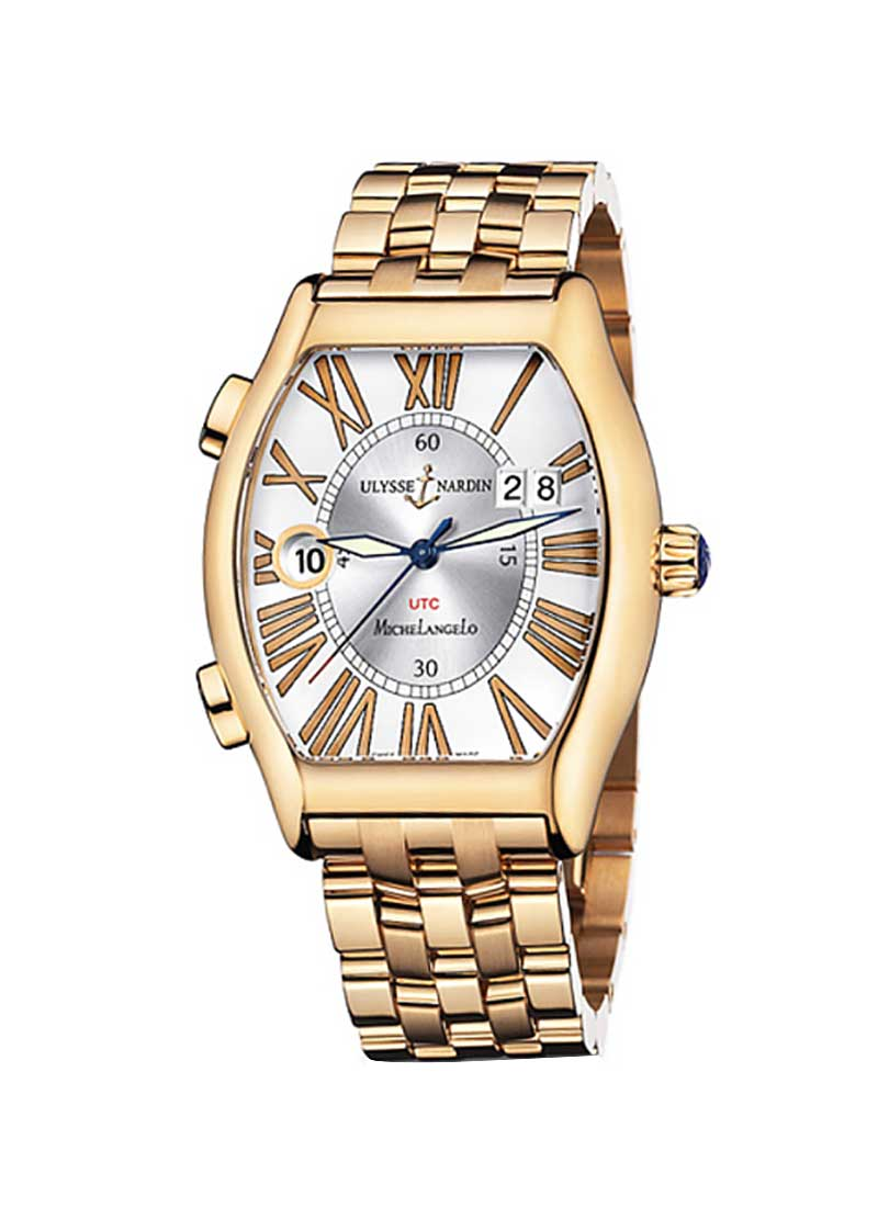 Ulysse Nardin Michelangelo Gigante UTC Dual Time in Rose Gold