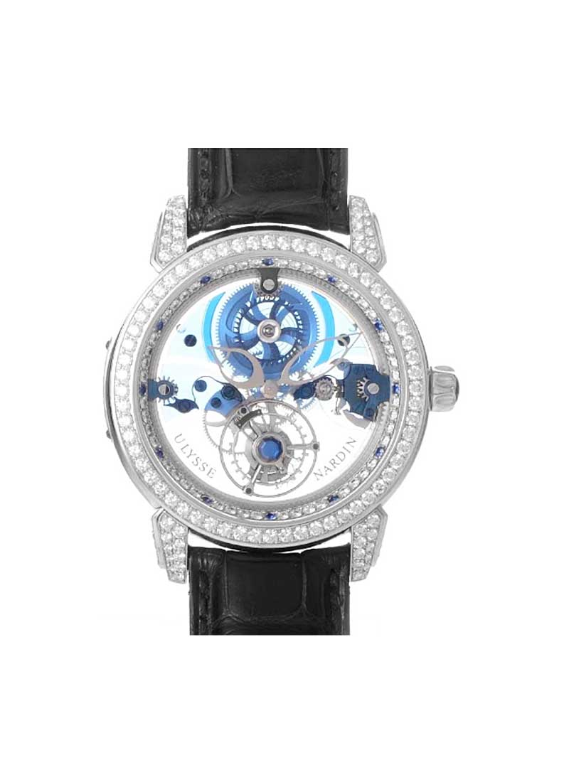 Ulysse Nardin Royal Blue Tourbillon in Platinum with Diamonds and Sapphires Bezel