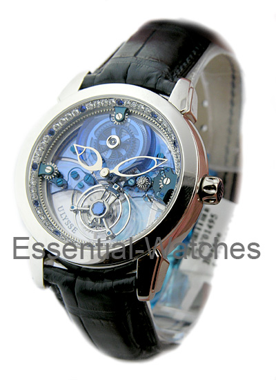 Ulysse Nardin Royal Blue Tourbillon 41mm in Platinum with Diamond Bezel