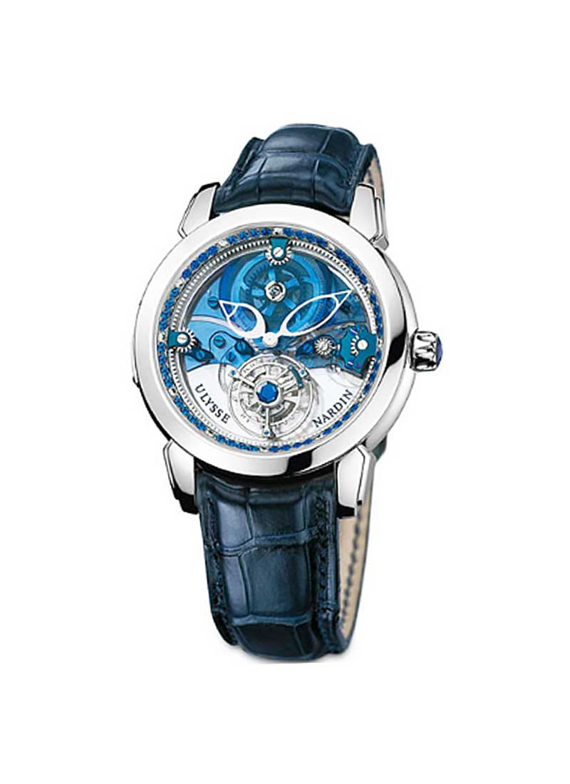Ulysse Nardin Royal Blue Tourbillon 41mm in Platinum  Limited Edition Of 99 Pieces