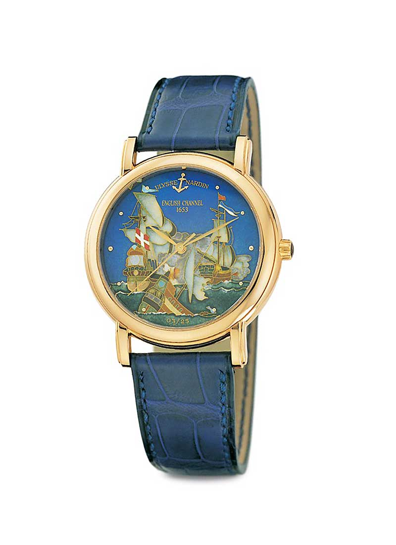 Ulysse Nardin San Marco Cloisonn English Channel 1653 in Rose Gold