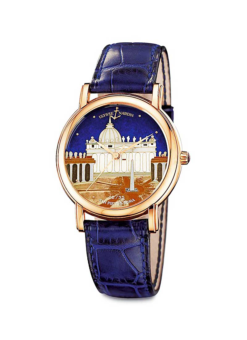 Ulysse Nardin San Marco Roma Cloisonne in Rose Gold - Limited Edition Of 30 Pieces
