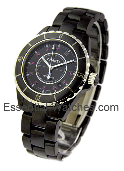 Chanel Black J12 38mm Automatic in Ceramic & Stainless Steel