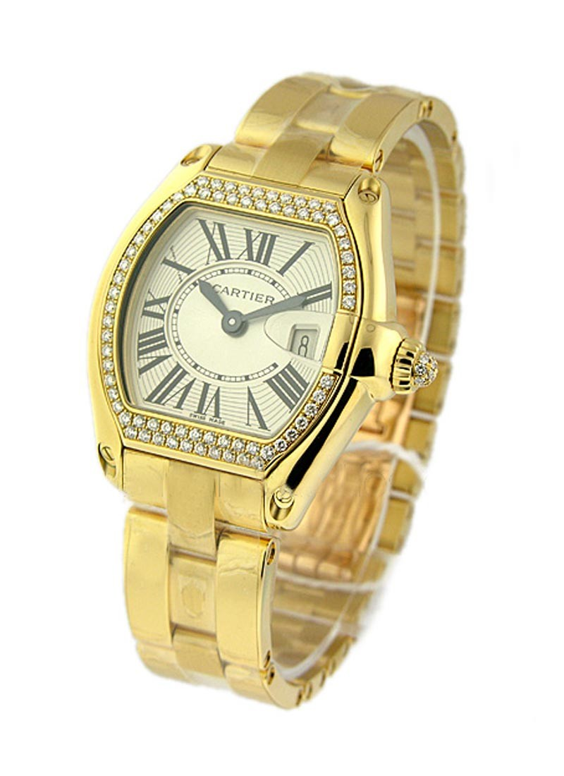 Cartier  Lady's Roadster with Diamond Bezel