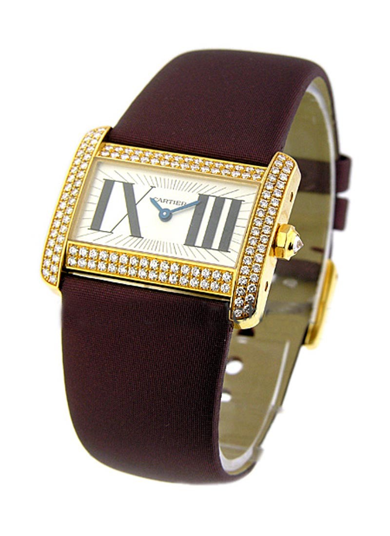 Cartier Tank Divan Yellow Gold with Diamond Case