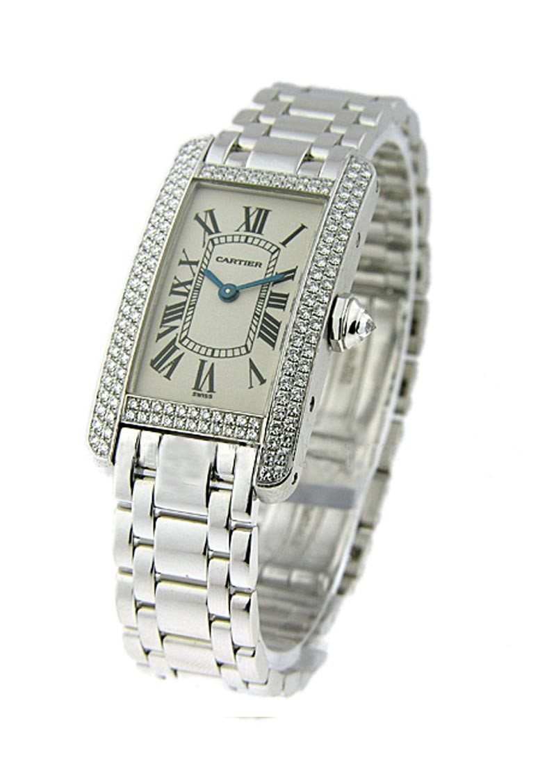 Cartier Tank Americain   White Gold Small Size