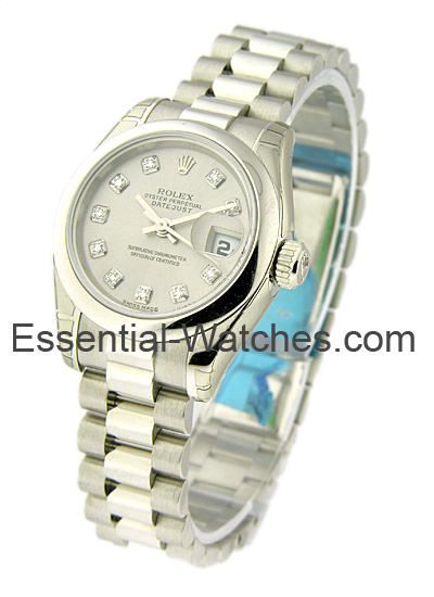 Rolex Unworn Lady's President in Platinum with Domed Bezel