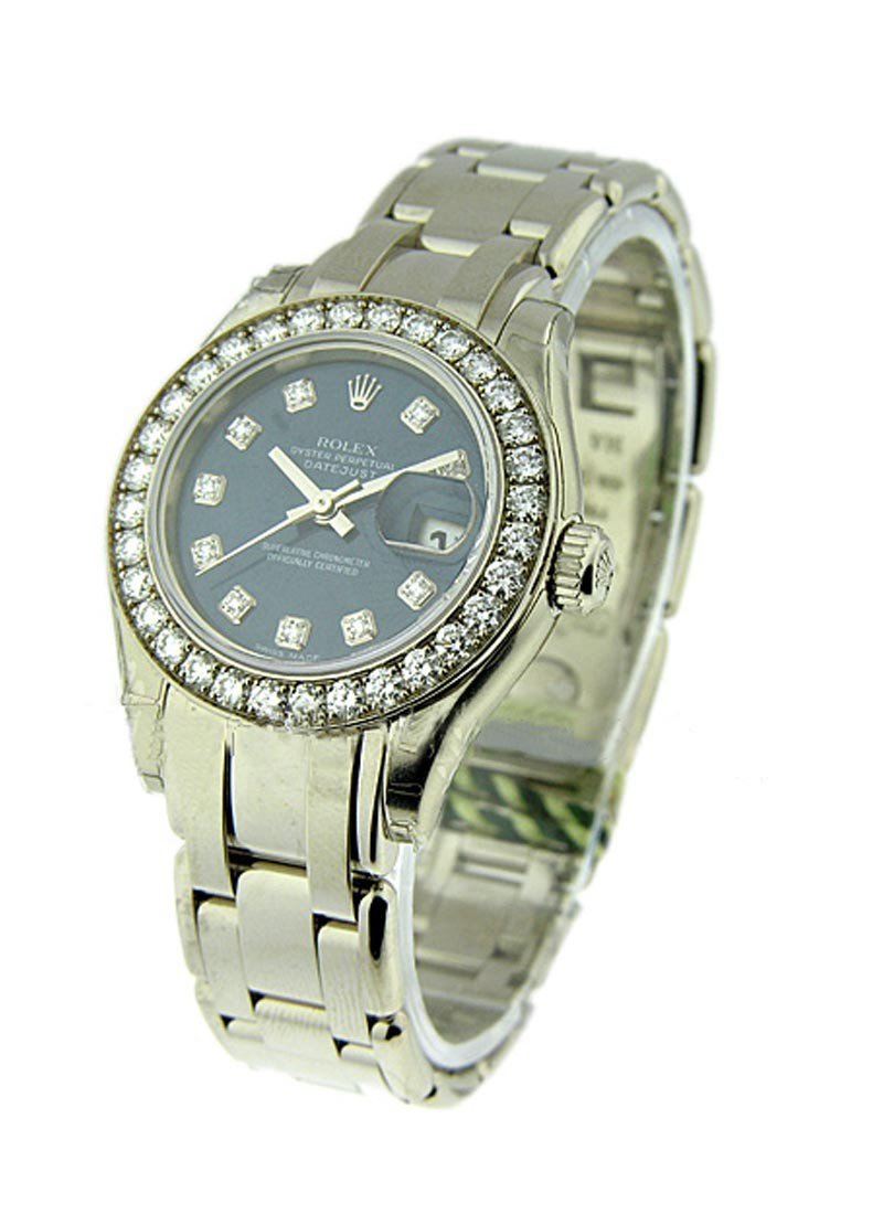 Rolex Unworn Masterpiece Lady's in White Gold with 32 Diamond Bezel