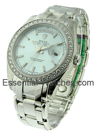 Rolex Unworn Men's Platinum Masterpiece with Diamond Bezel