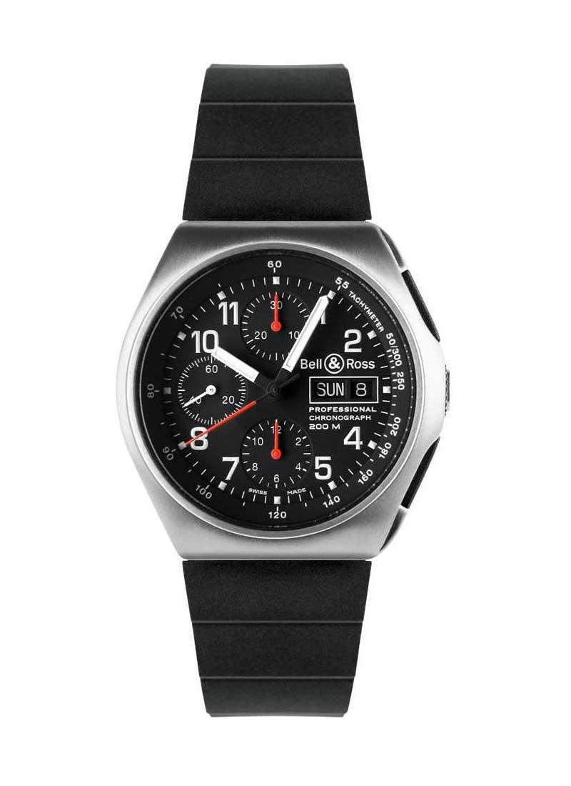 Bell & Ross Professional Space 3 GMT in Steel