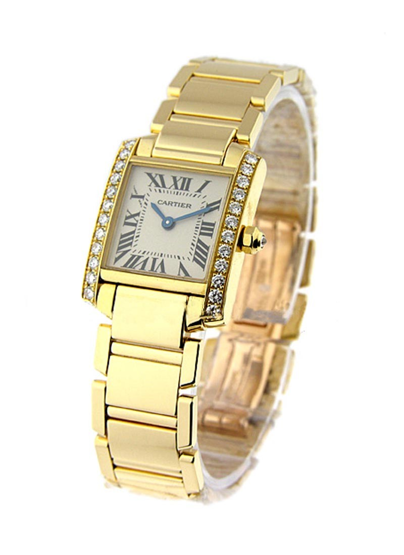 Cartier Tank Francaise in Yellow Gold with Diamond Case