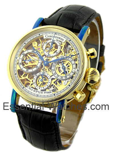 Chronoswiss Opus - Skeleton Chronograph Automatic in Yellow Gold