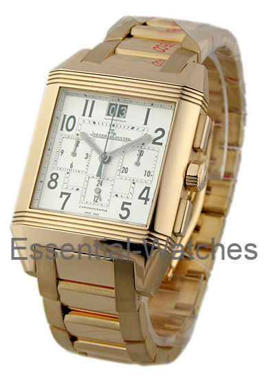 Jaeger - LeCoultre Reverso Squadra Chrono GMT in Rose Gold