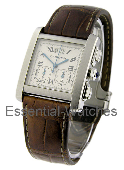Cartier Tank Francaise Chronograph in Steel