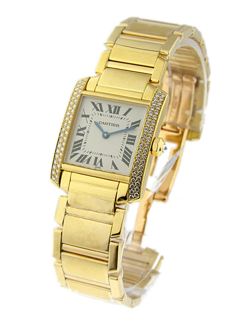 Cartier Tank Francaise with 2 Row Diamond Case