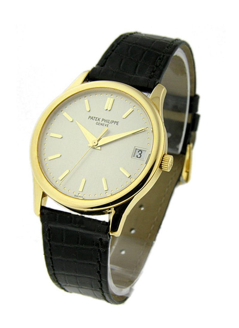 Patek Philippe 3998 Calatrava - Small Size - Automatic in Yellow Gold with Engraved case back