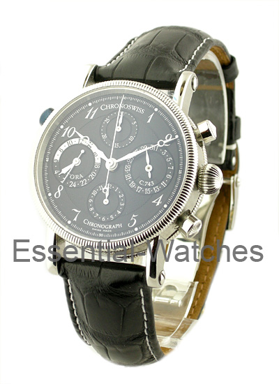 Chronoswiss Tora Chronograph Mens 38mm Automatic in Steel
